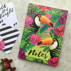 A6 Luxury Gold Foil Toucan Notebook