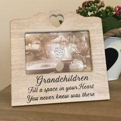Grandchildren Rustic Photo Frame