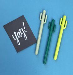 Cactus Gel Pen - Dark Green / Lime Green / Olive