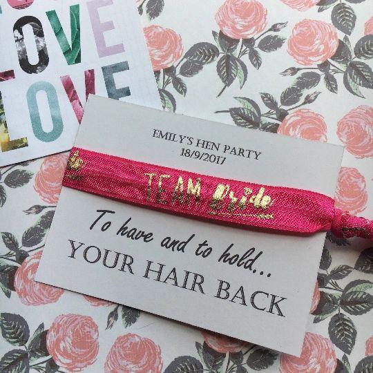 Hen Party Hair Tie