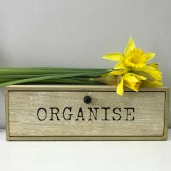 Wooden 'Organise' Drawer Tidy by Gisela Graham