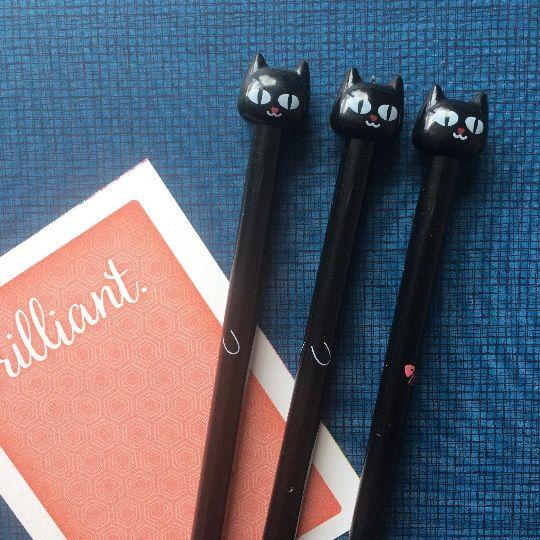 Black Cat Gel Pen