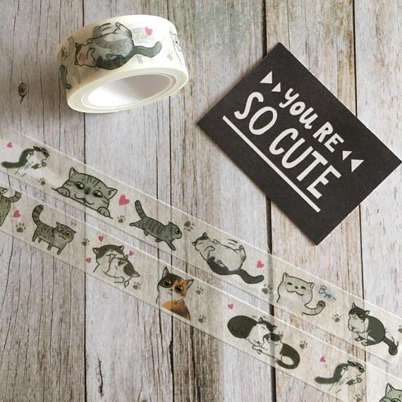 Washi Tape - Cute Cat