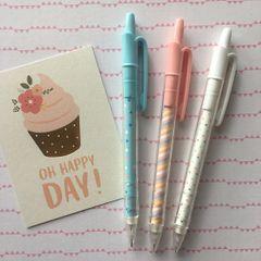 Summer Pastel Mechanical Pencil - Blue / Pink / White