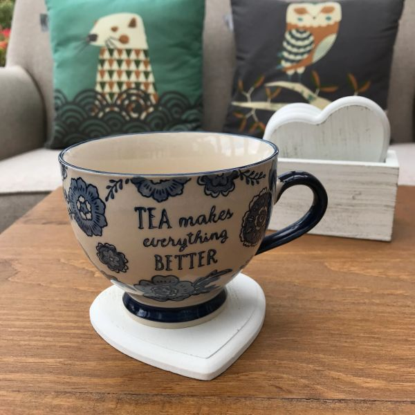 Sass & Belle Blue Willow Floral Teacup