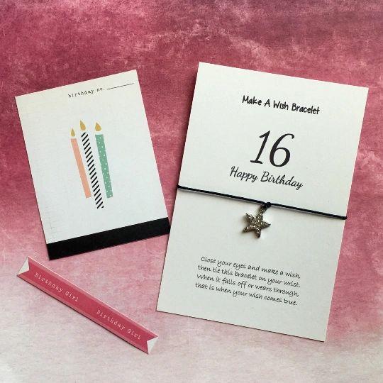 16th Birthday with Rhinestone Star Charm