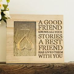 A Best Friend Wooden Photo Frame