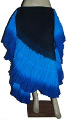 BLK BLUES DIP DYED ATS®Triple Dip-Dyed Tribal Bellydance Gypsy Skirt