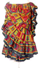 Brand New! DIVALI DIVA MULTICOLOR MOSAIC GYPSY Skirt