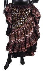 Brand New! DIVINE DIVA DIVALI CHOCOLATE GYPSY FABULOUS Skirt