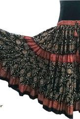 BLOCK PRINT #1 ATS®TRIBAL BELLYDANCE BATIK JAIPUR GYPSY SKIRT