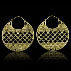 TRIBAL FUSION Vintage Tribal DUBAI BellyDance Hoop Earrings