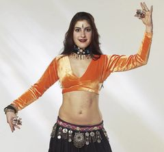 CHOLI VELVET TRIBAL BELLYDANCE GYPSY VELVET CHOLI LONG SLEEVE