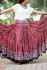 BLOCK PRINT ATS®TRIBAL BELLYDANCE MAHA BLOCK PRINT GYPSY SKIRTS