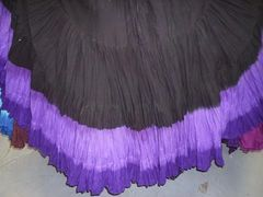 BLK VIOLETS DIP DYED ATS®Triple Dip-Dyed Tribal Bellydance Gypsy Skirt