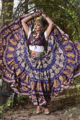 NEW!!ATS BLUE PAISLEY Durga Tribal Bellydance Tribal ATS Gypsy Skirts