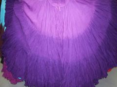 DIP DYED LAV/VIOLET/PURPLE TRIPLE Dip-Dyed Tribal Bellydance ATS®Tribal Gypsy Skirts