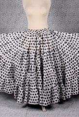 WHITE BLACK POLKA DOT TRIBAL SKIRT