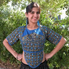 CHOLI VINTAGE TRIBAL ATS GYPSY CHOLI TOP~XL&XXL