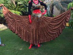 BROWN PAISLEY CHUNRI Tribal Bellydance Gypsy Skirt