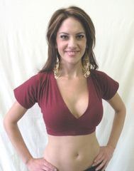 CHOLI ATS®TRIBAL BELLYDANCE GYPSY CHOLI SHORT SLEEVE