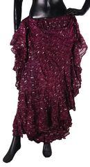 NEW!!ATS BEET BURGUNDY BW Sparkley Tribal Bellydance Tribal ATS Gypsy Skirts