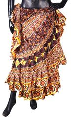 NEW!!ATS GOLD/CHOC Durga Tribal Bellydance Tribal ATS Gypsy Skirts