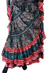 BLOCK PRINT TIBETAN Tribal Bellydance Tribal ATS Gypsy Skirts