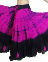 TIGER DEEP FUSHIA Dip Dyed Tribal Bellydance ATS®Tribal Gypsy Skirts