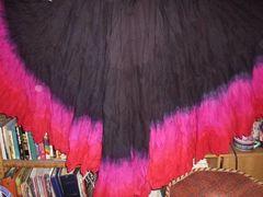 FUSHIAS DIP DYED ATS®Triple Dip-Dyed Tribal Bellydance Gypsy 25 YARD Skirt