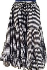 STRIPE PARIS SHINEY STEAMPUNK PIRATE Gypsy ATS®Tribal Skirt