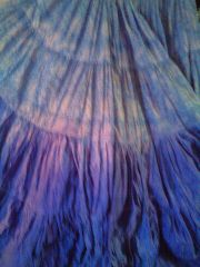 DIP DYED ATS®TRIBAL BELLYDANCE BLOCK PRINT GYPSY SKIRTS
