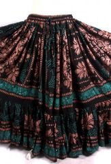 BLOCK PRINT ATS®TRIBAL BELLYDANCE BLOCK PRINT GYPSY SKIRTS