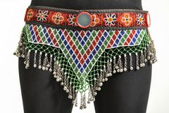 BELT VINTAGE TRIBAL KUCHI BEADED GYPSY ATS BELT