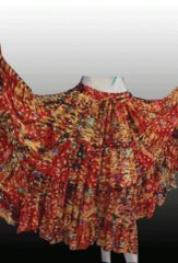 RUST MULTI CHUNRI Tribal Bellydance Gypsy Skirt