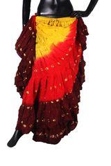 NEW!!ATS SUNRISE BW Sparkley Tribal Bellydance Tribal ATS Gypsy Skirts