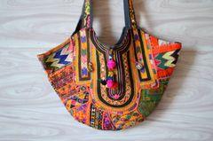 BAG EACH UNIQUE ONE OF A KIND!!Tribal Gypsy Vintage Textile Kuchi Bag XL