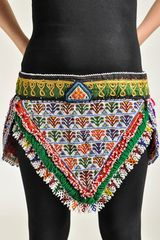 BELT VINTAGE TRIBAL KUCHI BEADED XL GYPSY ATS BELT