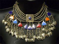 KUCHI Vintage Tribal BellyDance Choker LAPIS Necklace