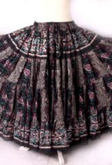 BLOCK PRINT ATS TRIBAL BELLYDANCE GYPSY SKIRTS