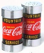Coca Cola Salt Pepper Shakers