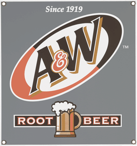 A and W Rootbeer Sign