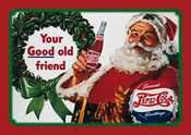 Pepsi Cola Santa Tin Sign