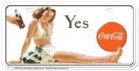 Coca Cola License Plate