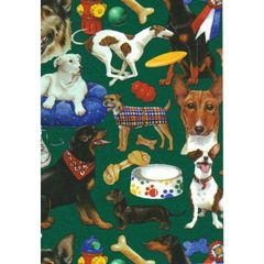 Dogs Heavy Gift Wrapping Paper - 6 Foot Sheet