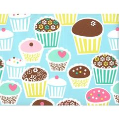 Cute Little Cupcakes Heavy Gift Wrapping - 6 Ft Sheet