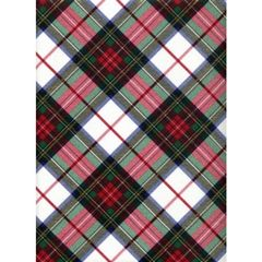 White Dress Tartan Plaid Heavy Embossed Gift Wrapping Paper - 30 In x 25 Ft Roll