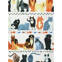 Cats & Dogs Heavy Gift Wrapping -Two 6 Ft Sheets