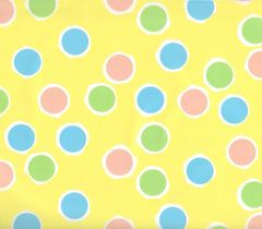 Polka Dots on Yellow Gift Wrapping Paper - 100 Ft Roll
