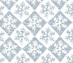 Silver Snowflake Check Christmas Tissue Paper - 10 Sheets